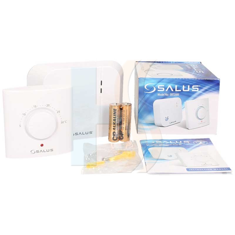 Salus Wireless Dial Room Thermostat ERT20RF Pack