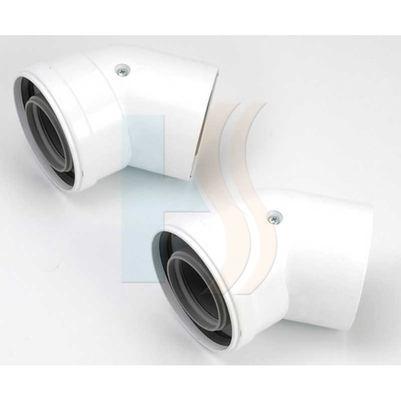 Vokera he pair of 45 degree flue bends