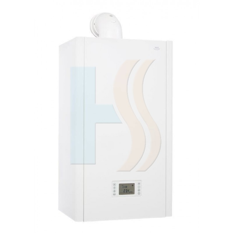 White Heat WH80 Combi Boiler c/w Flue And Clock